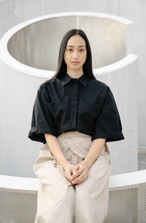 一瞥, 不情緒化, 亞洲女人 的 免費圖庫相片