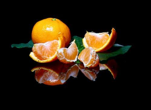 橘子, 橙子, 顏色, 黑色背景 的 免费素材照片
