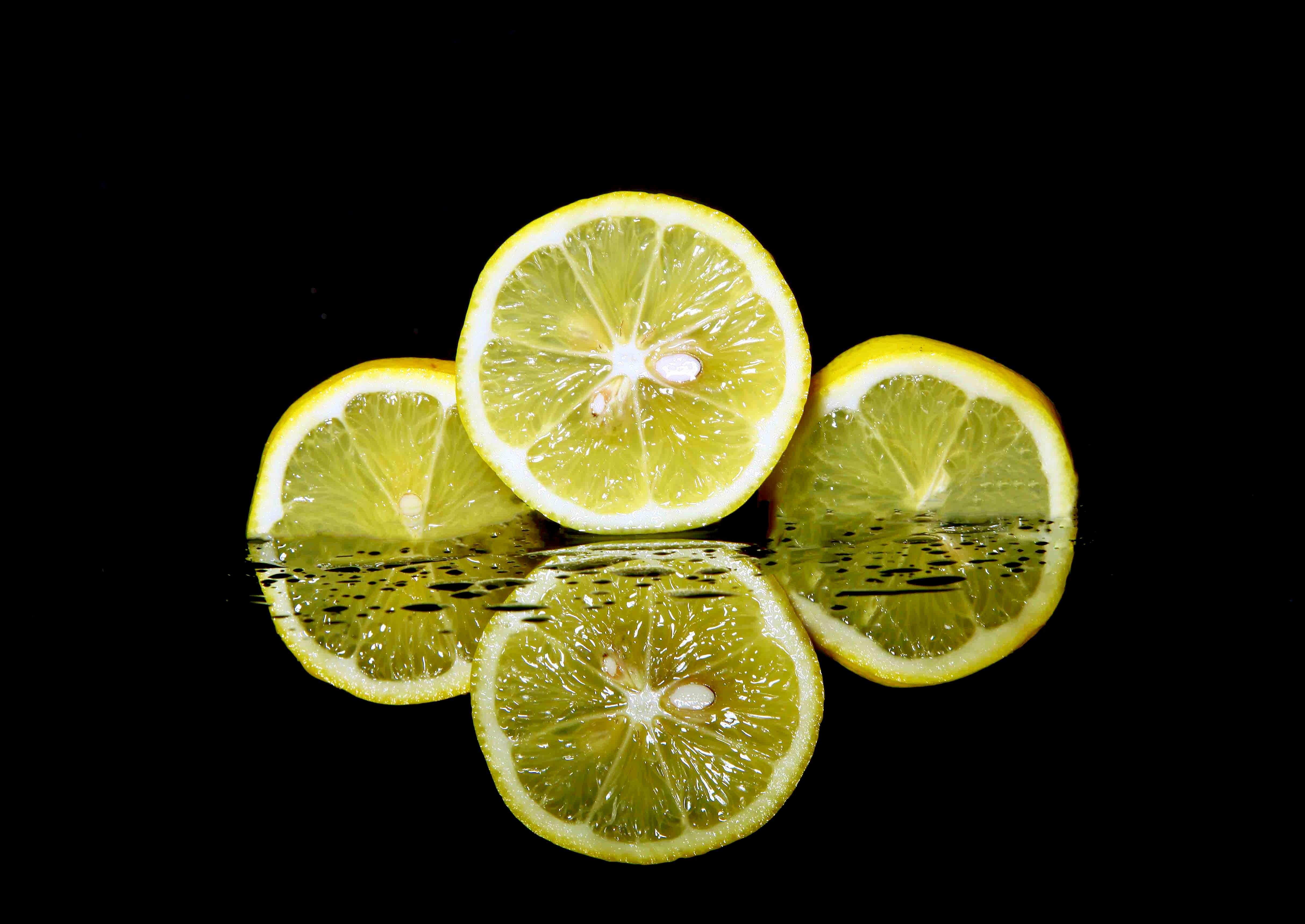 Three Sliced Lemons