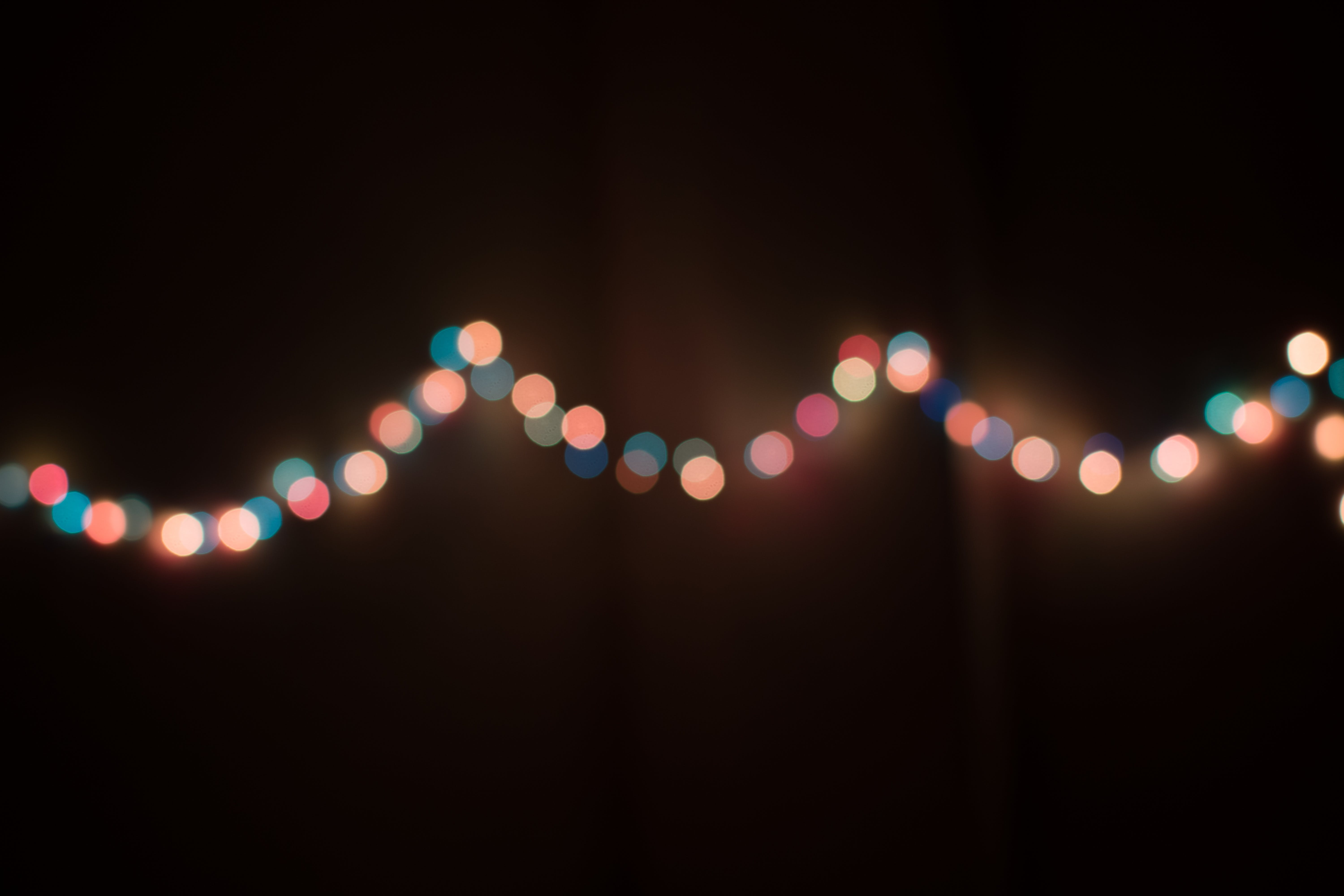 Bokeh Photography of String Lights