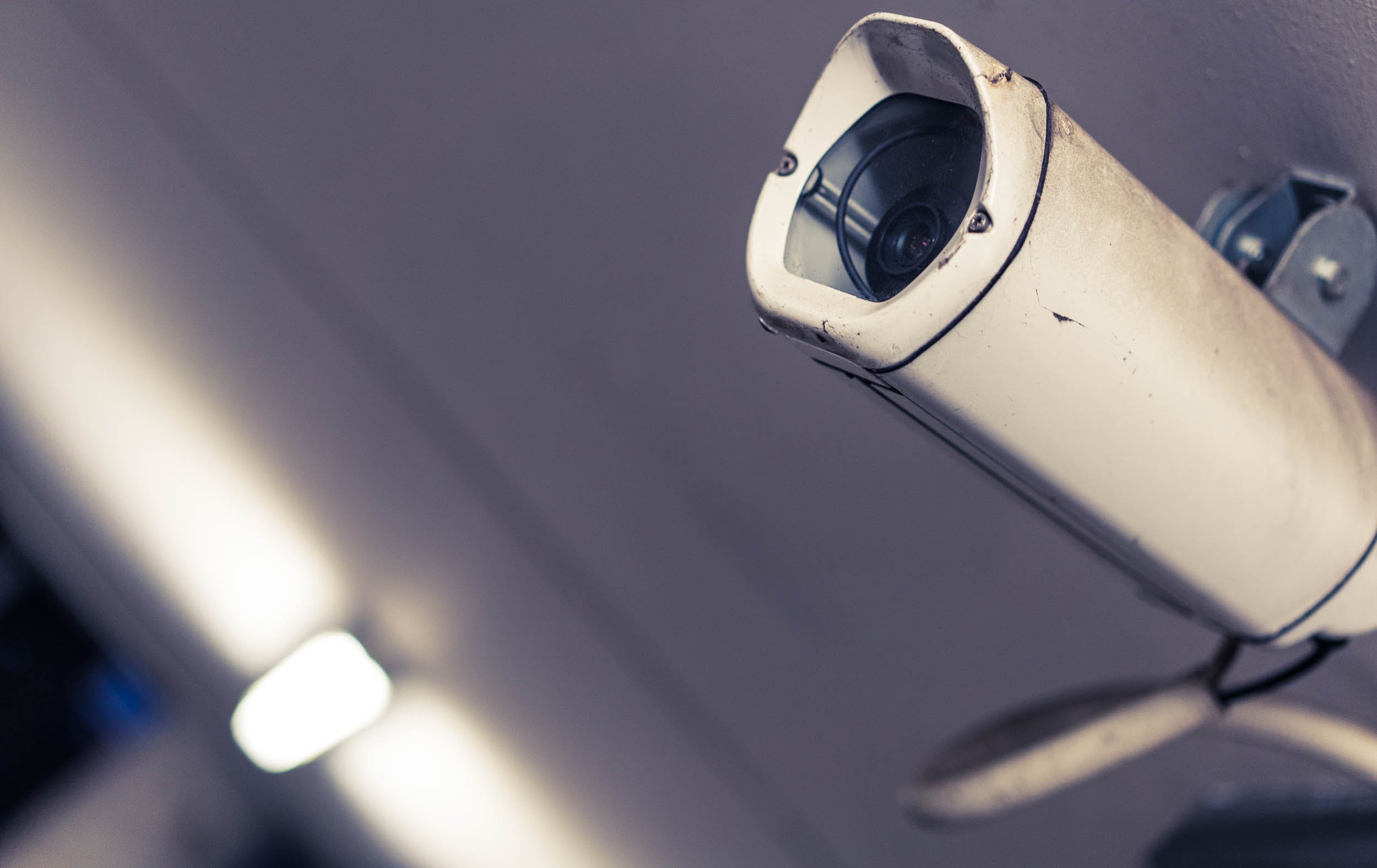 White and Gray Surveillance Camera in Macro Photography