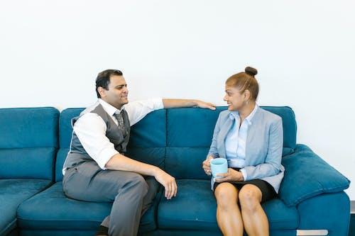 Man and Woman Having a Coffee Break