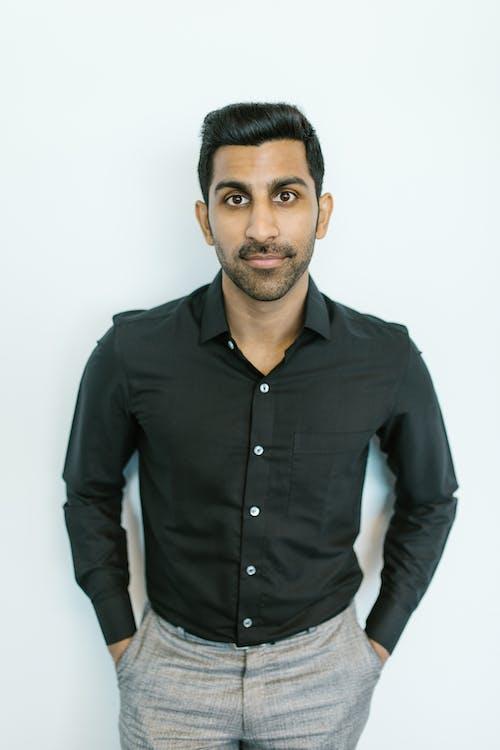 Man in Black Dress Shirt