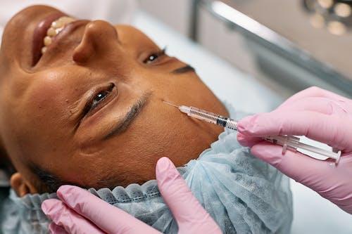 Woman Getting a Forehead Botox