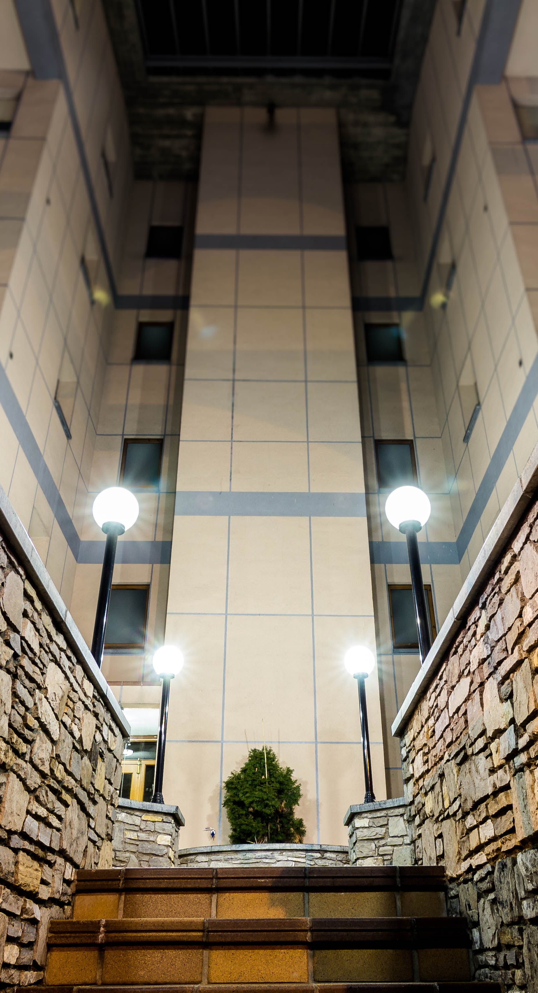 Free stock photo of architecture, building, lamp, night
