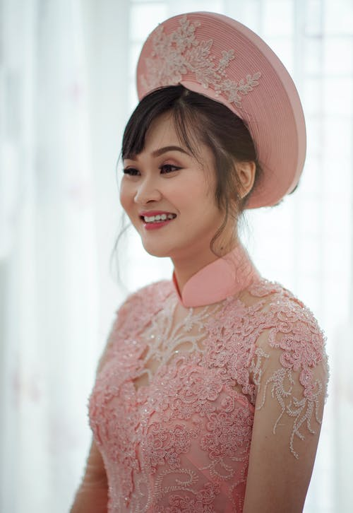 Photography of a Woman Wearing Pink Dress