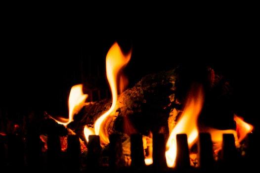 Free stock photo of romantic, fire, burning, fireplace
