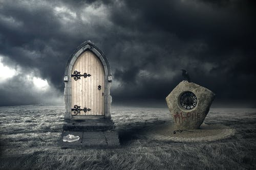 Free stock photo of dark, door, manipulation, photoshop