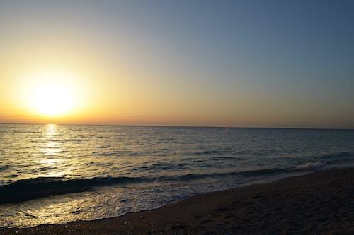Бесплатное стоковое фото с закат, море, пляж