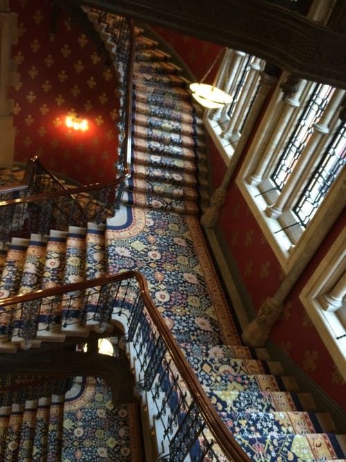 Free stock photo of St Pancras Hotel restored staircase