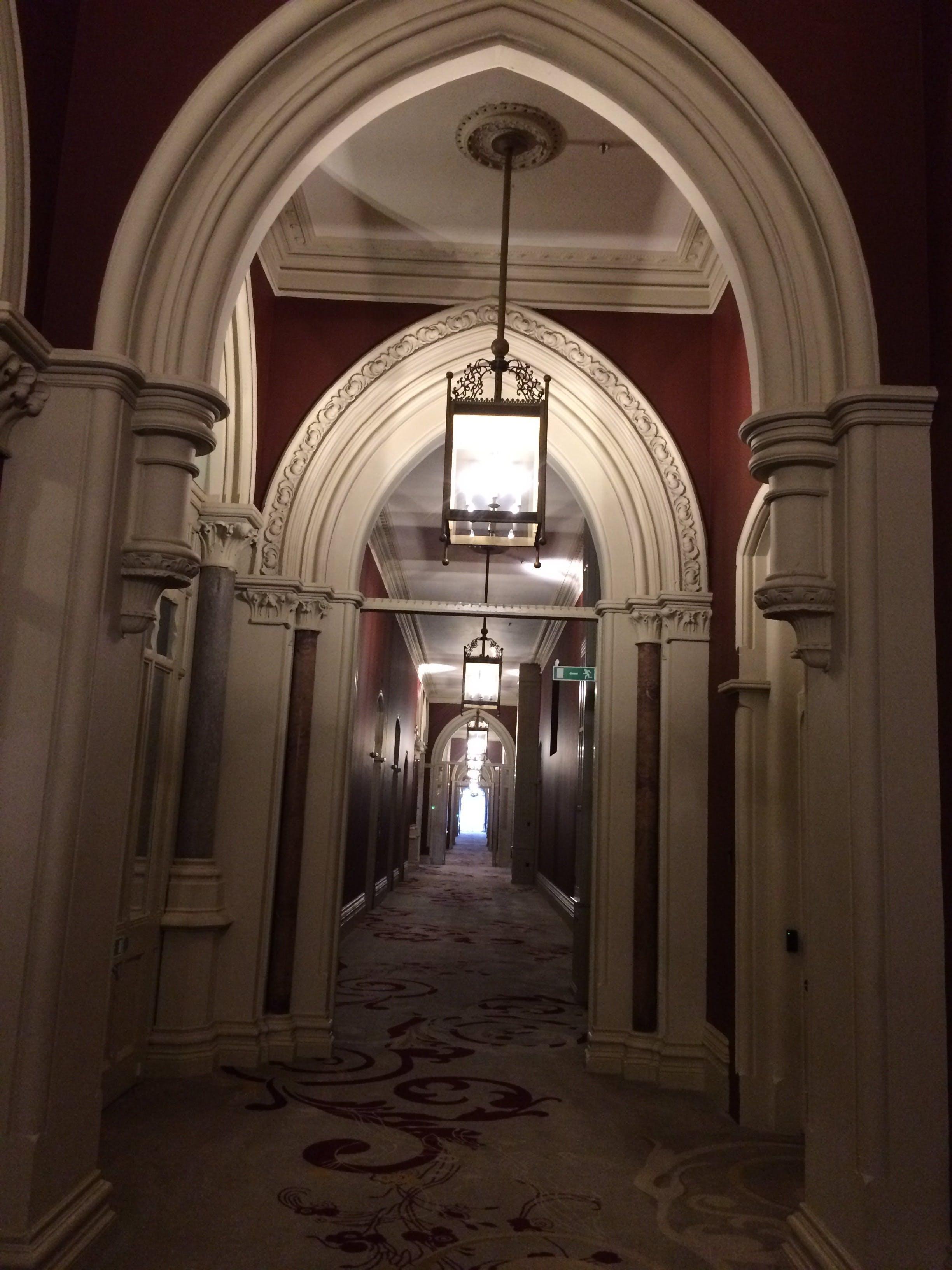 Free stock photo of St Pancras Hotel  corridor