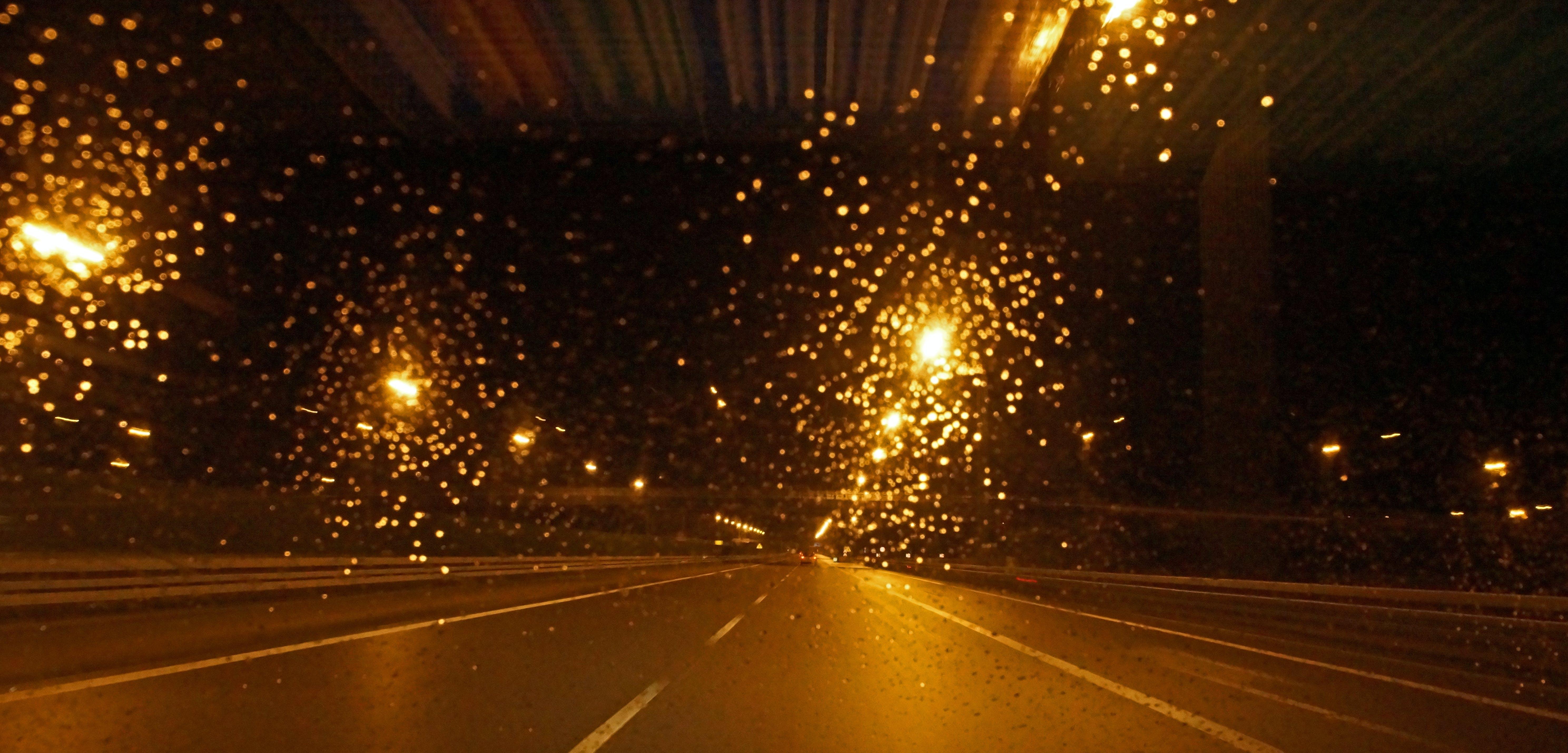 Free stock photo of car, rain