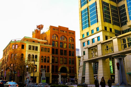 Fotobanka sbezplatnými fotkami na tému architekt, budova, budovy, bytový dom