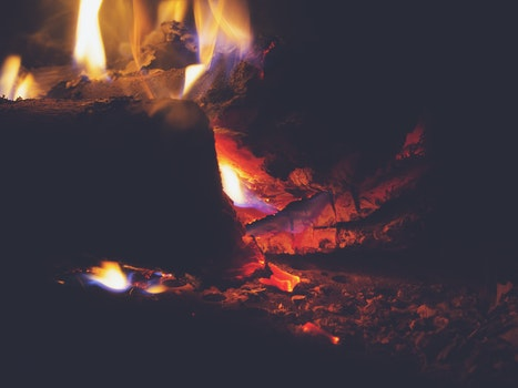Free stock photo of wood, fire, burning, fireplace