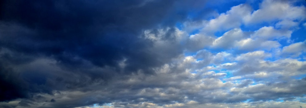 Free stock photo of sky, clouds, blue, winter