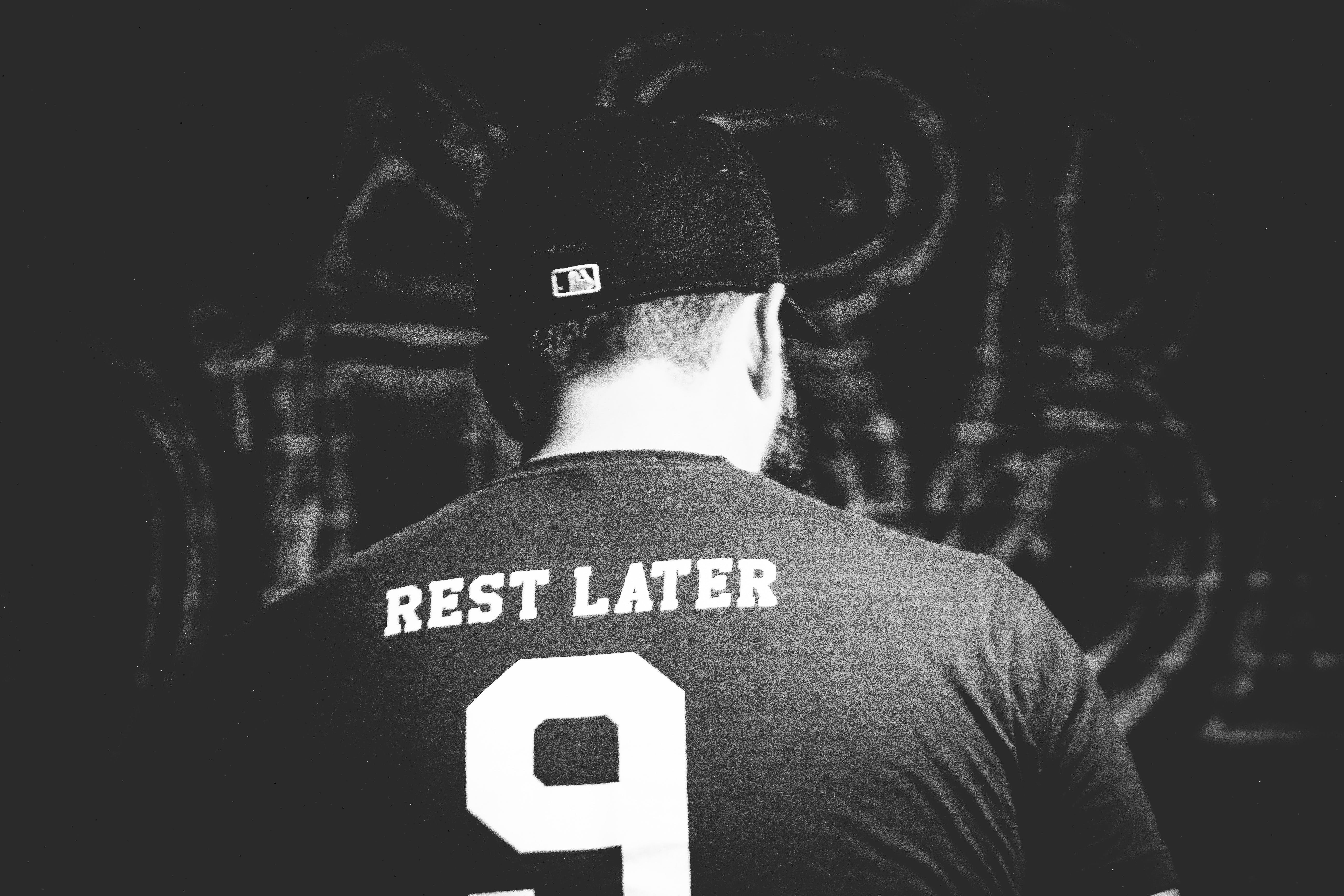 Grayscale Photo of Rest Later 9 Shirt
