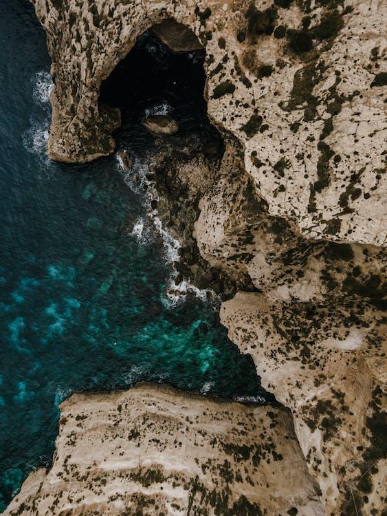 Birds Eye View of Ocean Cliff