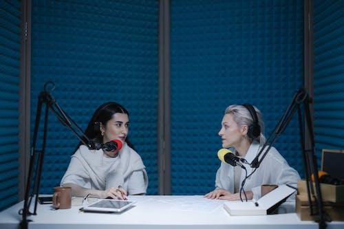 Women in a Studio Having a Conversation