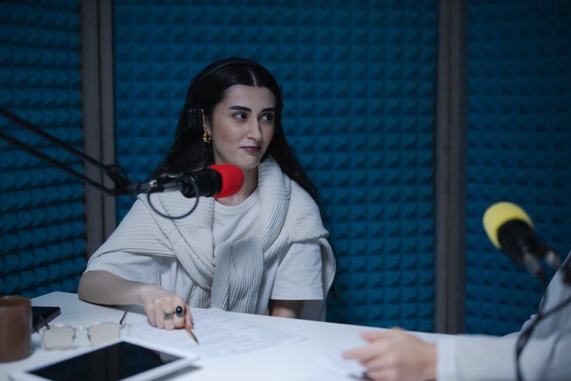 A Woman in a Studio