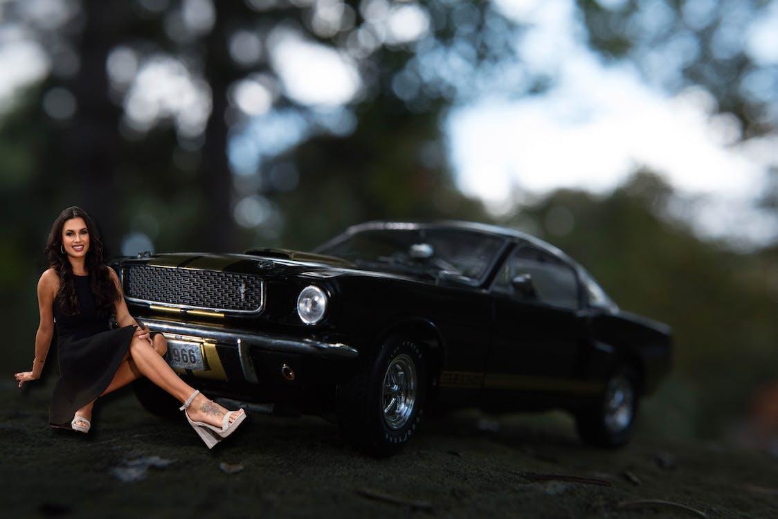 Free stock photo of beautiful woman, car, car and woman