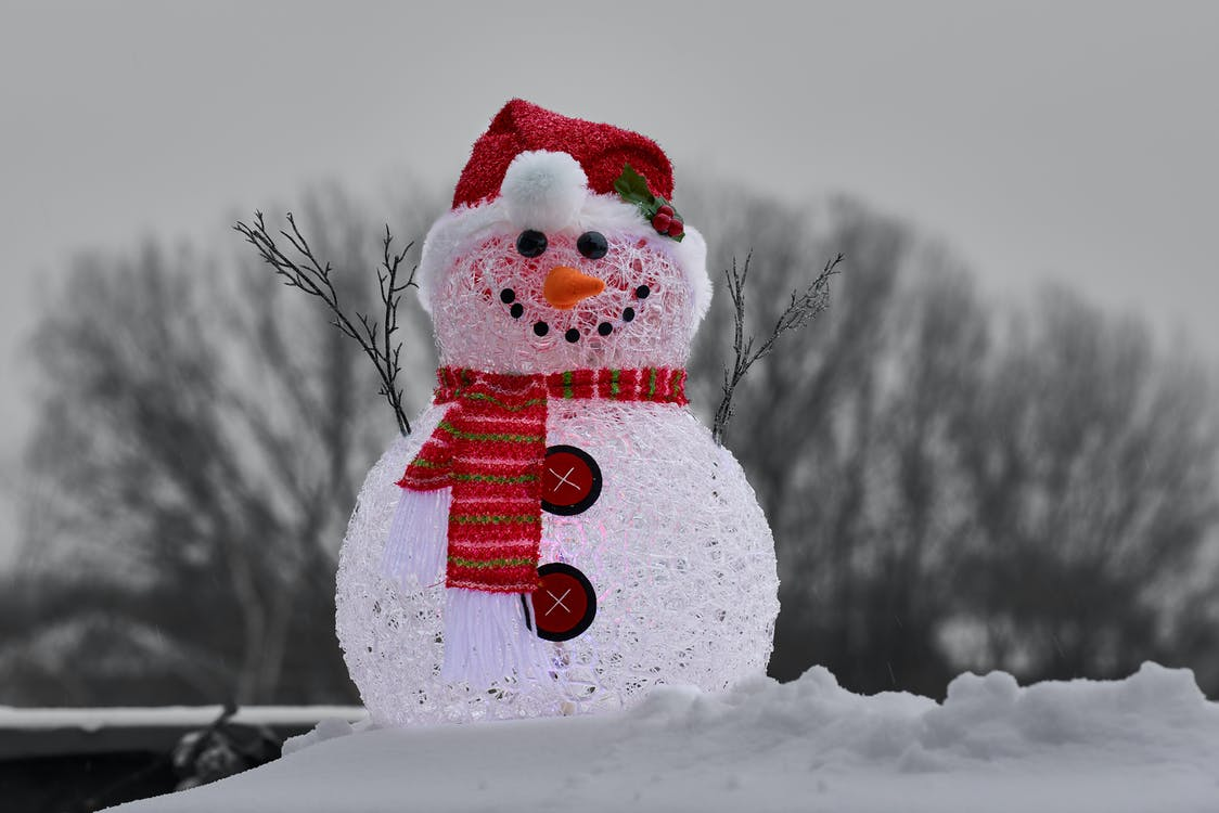 Close-Up Photography of Snowman