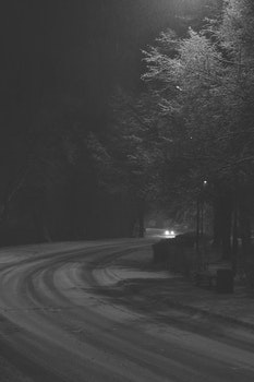 Free stock photo of light, black-and-white, road, street