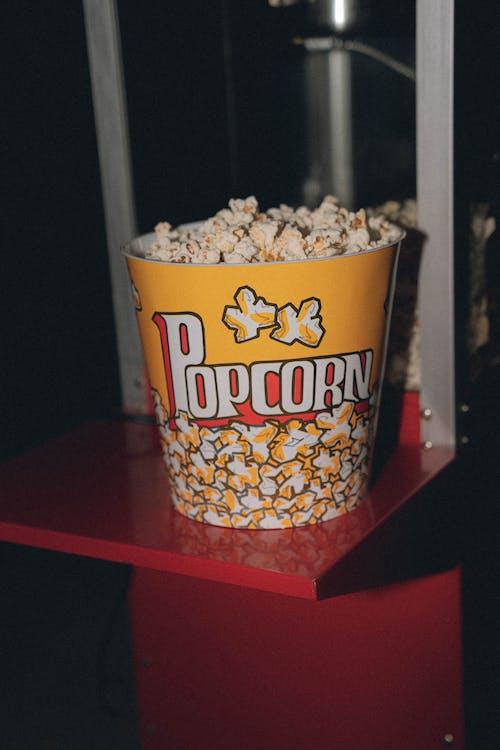 Photo of Popcorn Inside a Yellow Bucket
