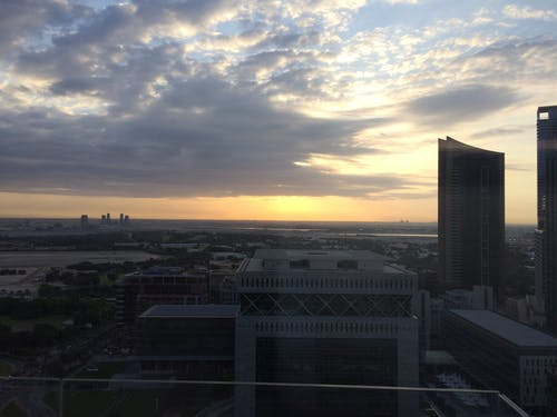 Imagine de stoc gratuită din buna raza de soare, dubai dimineața nori