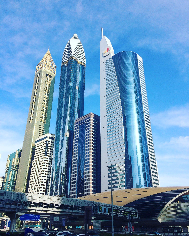 Free stock photo of Sheikh Zayed road views in Dubai