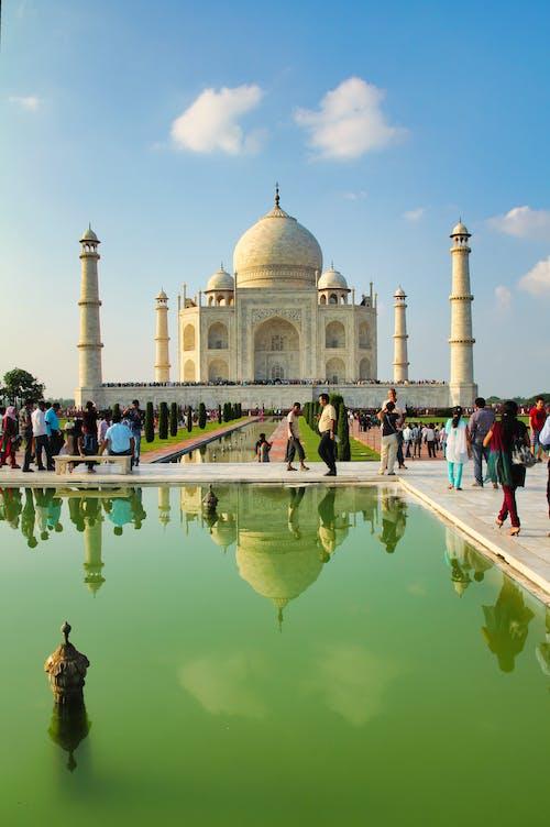 People Around Pool in Taj Mahal