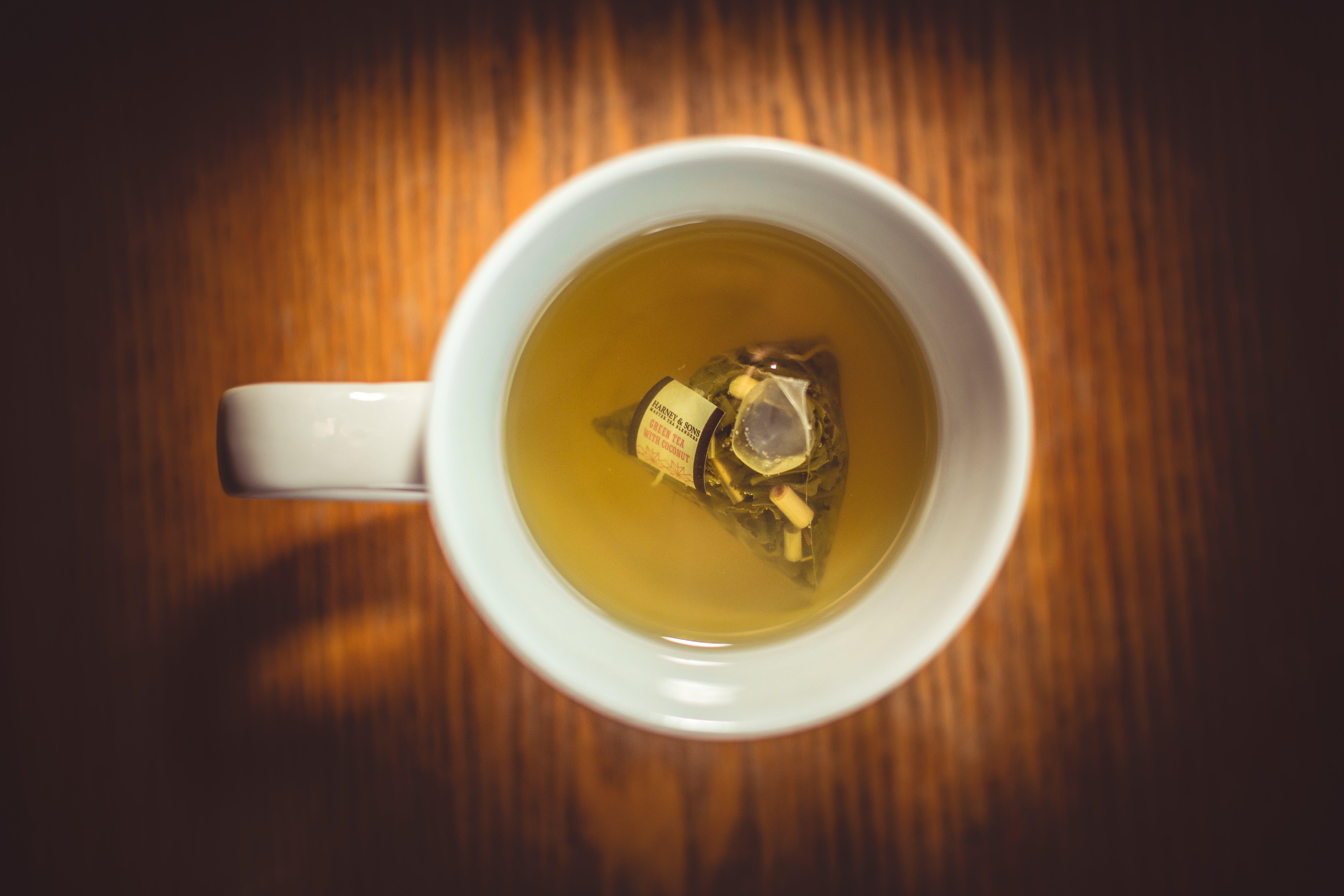 Free stock photo of mug, drink, tea, blur