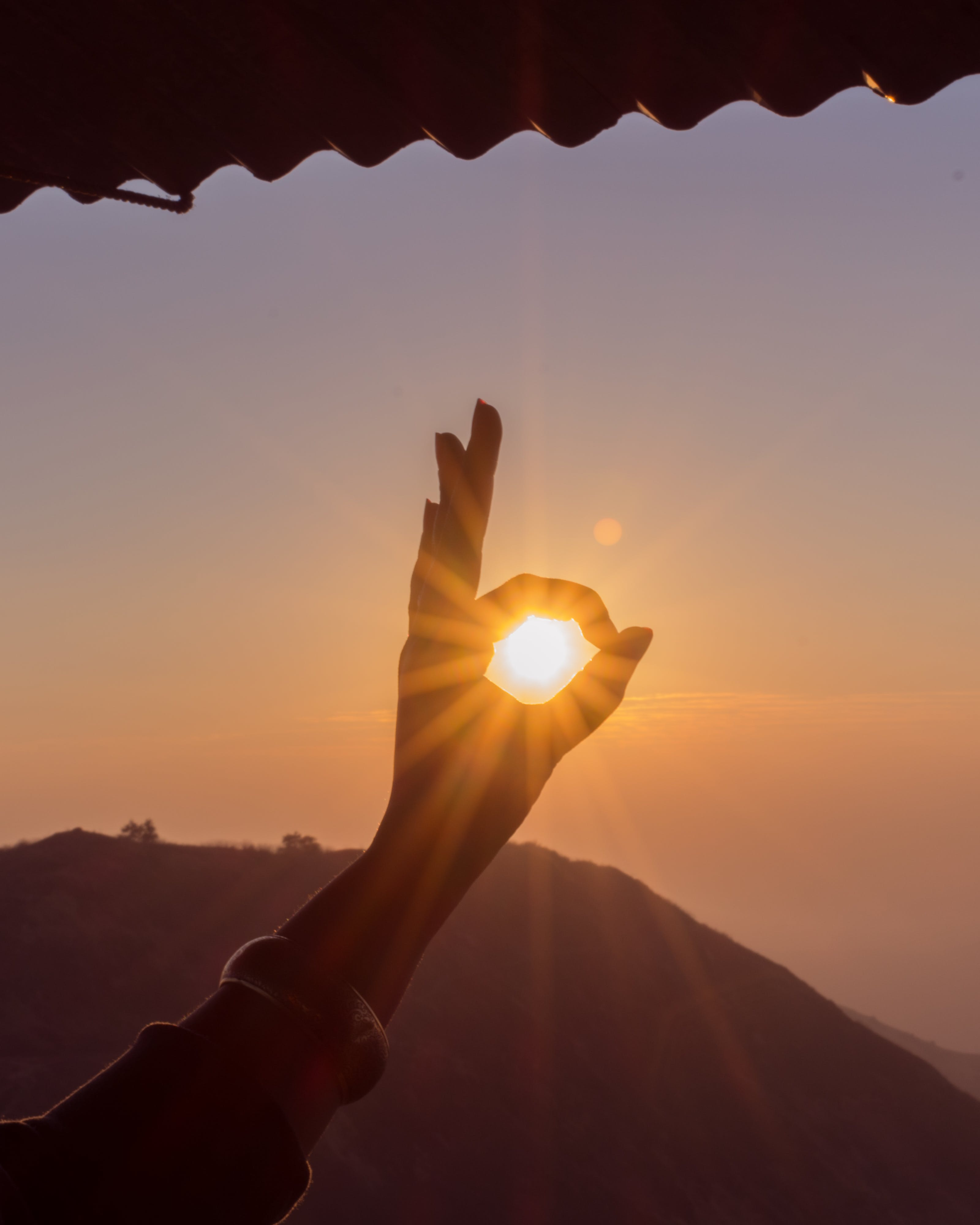 Photography of Hand During Sunset