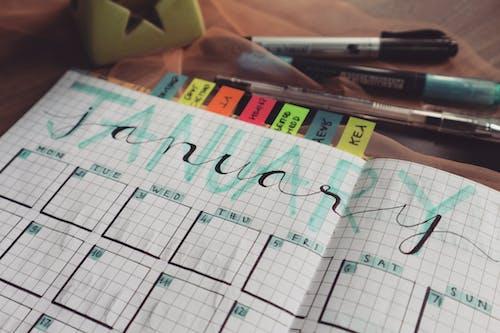 Foto d'estoc gratuïta de bolígrafs, cites, escrivint, gener