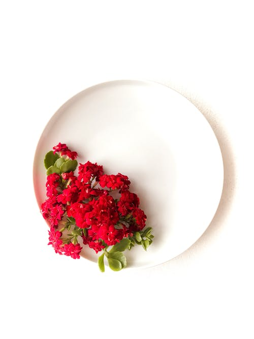 Red and Green Vegetable on White Ceramic Bowl