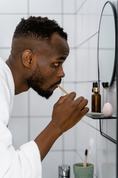 A Man Looking at the Mirror