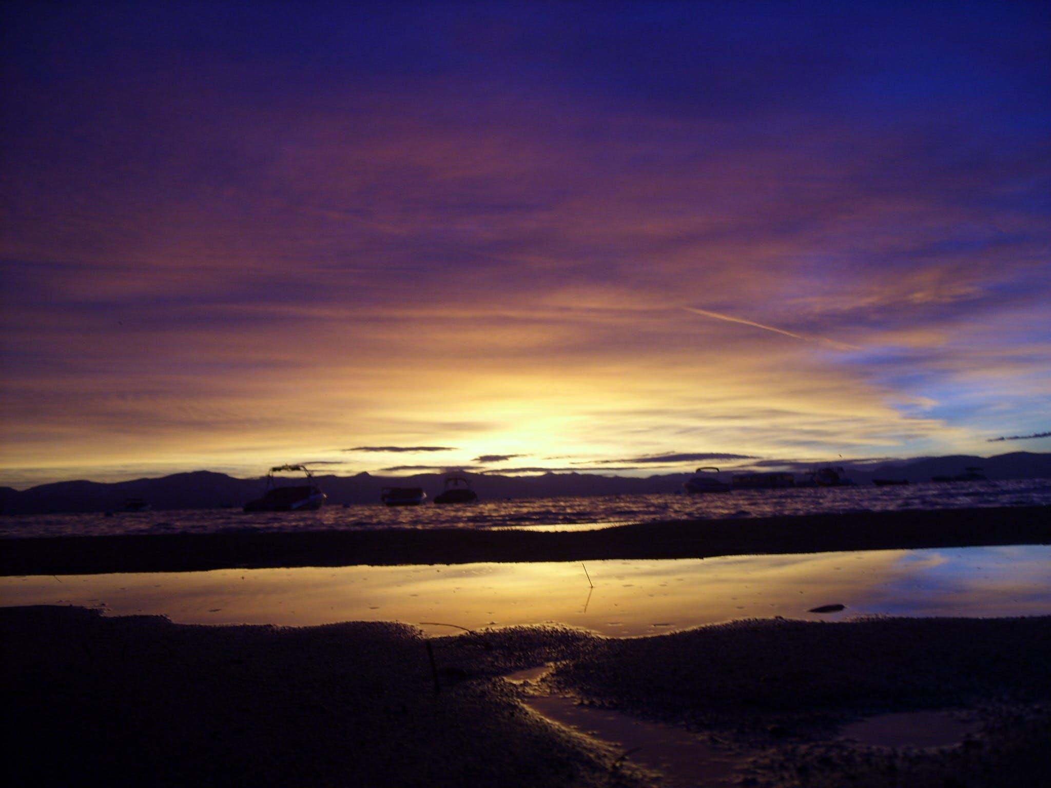 Free stock photo of Joe Leineweber, Lake Tahoe, sunset