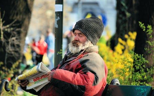 Darmowe zdjęcie z galerii z bezdomny, park, ławka