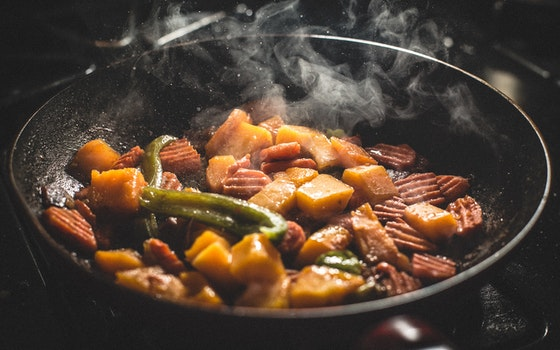 Vegetable Food Cooked on Frying Pan