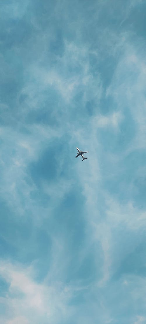 Free stock photo of aeroplane, baby blue wallpaper, beautiful sky