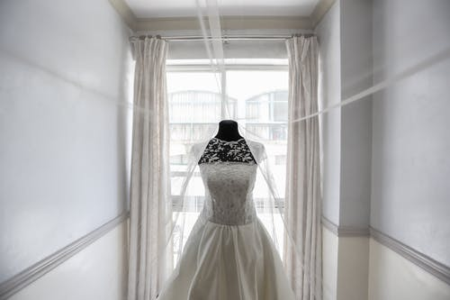 White Floral Lace Wedding Gown
