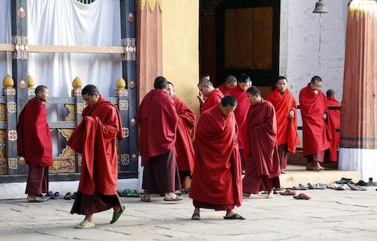 Men Wearing Red Robe