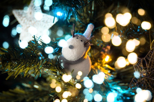 Macro Shift Photography of White Deer Ornament