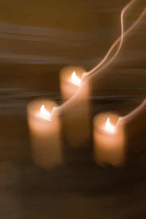 Free stock photo of blurred, candlelight, dark