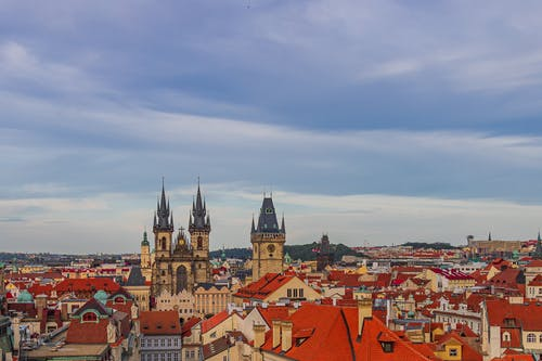 An Aerial Shot of the Old Town Square in Prague