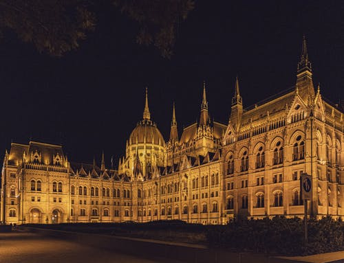 Facade of old Hungarian Parliament Building