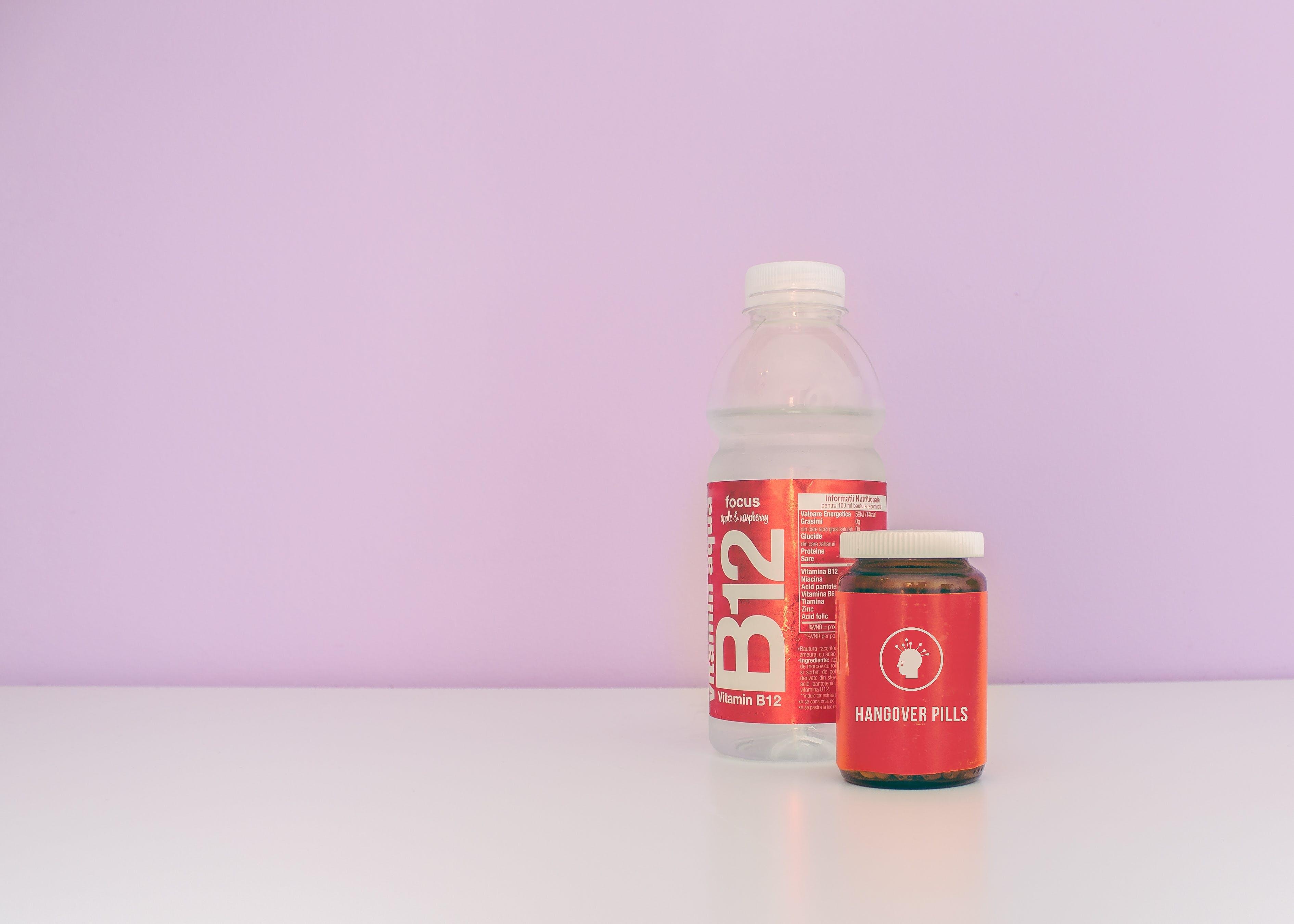 Free stock photo of water, hangover, bottle, pills