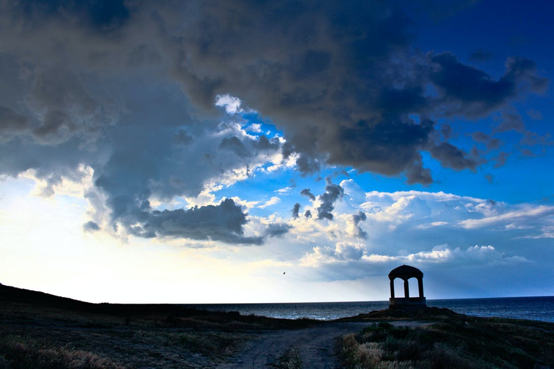 Free stock photo of blue sky, clouds, sea
