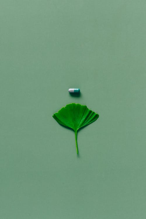 Capsule in Green Background