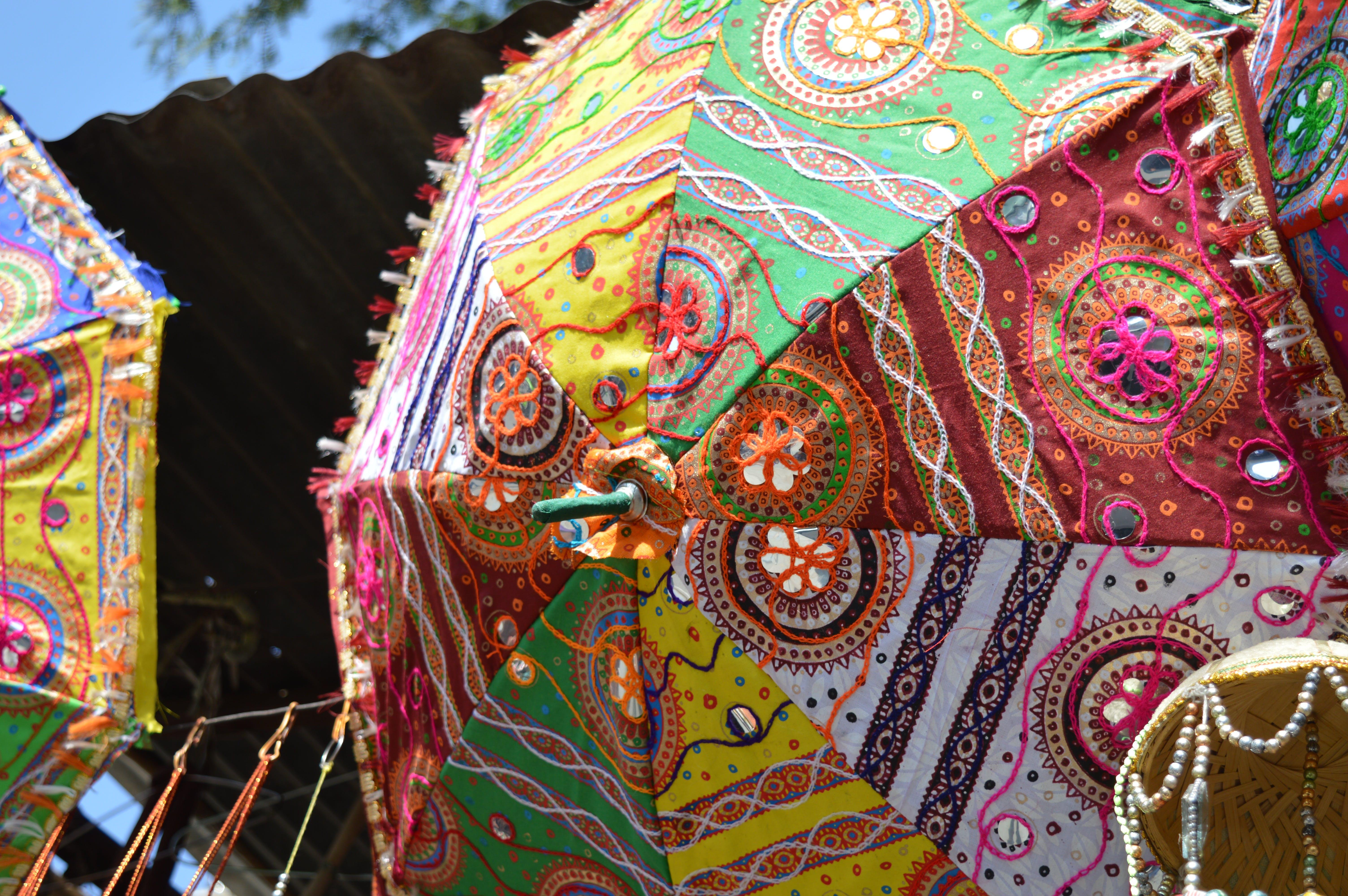 Free stock photo of bright colours, chatri, colourful umbrella, colours