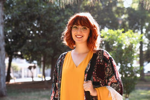 A Pretty Woman Smiling